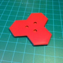 Magnets glued into tri-hex base.
