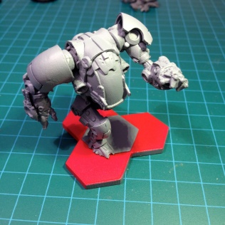 Giant on magnetised base.