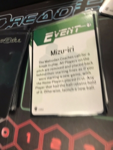 Dave was on the ropes against Brett's Neobots when this Event Card was drawn.